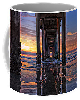 Under The Scripps Pier Coffee Mug