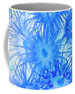 Coffee Mug featuring the photograph Under The Sea Colorful Watercolor Art #14 by Debra and Dave Vanderlaan