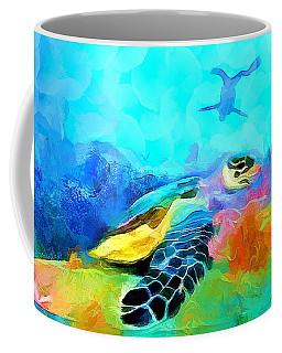 Under The Sea - Pearl Diver Coffee Mug by Wayne Pascall
