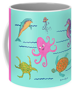 Under The Sea, Pink Octopus Coffee Mug
