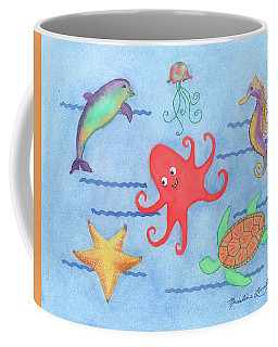 Under The Sea, Red Octopus Coffee Mug