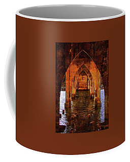 Coffee Mug featuring the photograph Under The Siuslaw River Bridge by Thom Zehrfeld