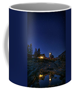Under The Stars At Pemaquid Point Coffee Mug by Rick Berk