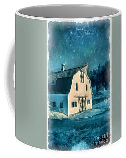 Under The Vermont Moonlight Watercolor Coffee Mug