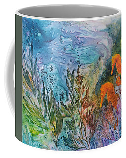 Coffee Mug featuring the painting Undersea Garden by Nancy Jolley