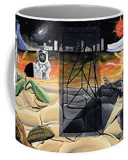 Coffee Mug featuring the painting Understanding Time by Ryan Demaree
