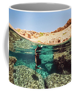 Underwater Jump Coffee Mug