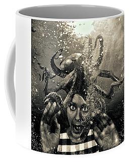 Underwater Nightmare Black And White Coffee Mug