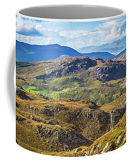 Coffee Mug featuring the photograph Undulating Landscape In Kerry In Ireland by Semmick Photo
