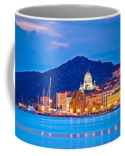 Unesco Town Of Sibenik Blue Hour View Coffee Mug