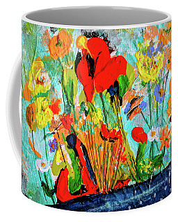 Unexpected Flower Basket Coffee Mug