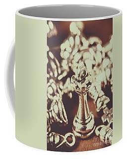 Coffee Mug featuring the photograph Unfallen Tower Of The Chess Game by Jorgo Photography - Wall Art Gallery