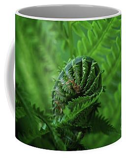 Unfurling Of Spring Coffee Mug by Rachel Cohen