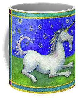 Coffee Mug featuring the painting Unicorn by Lora Serra