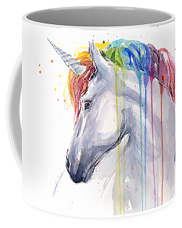 Unicorn Rainbow Watercolor Coffee Mug