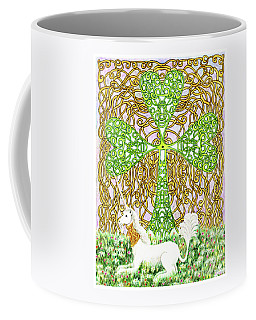 Unicorn With Shamrock Coffee Mug