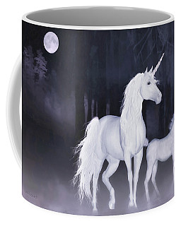 Unicorns In The Mist Coffee Mug