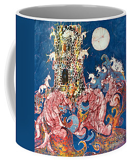 Unicorns Take Castle Coffee Mug
