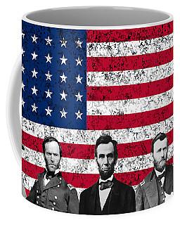 Union Heroes And The American Flag Coffee Mug