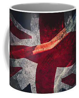 Union Jack Fine Art, Abstract Vision Of Great Britain Flag Coffee Mug