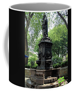 Coffee Mug featuring the photograph Union Square Park Water Fountain by Iowan Stone-Flowers