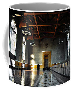 Coffee Mug featuring the photograph Union Station Los Angeles by Kyle Hanson