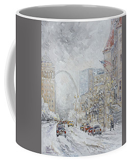 Union Station, St.louis - Winter Storm Coffee Mug