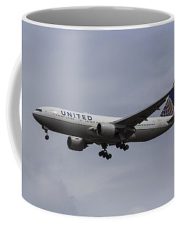 United Airlines Boeing 777 Coffee Mug