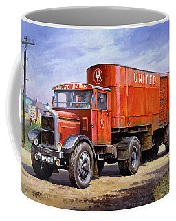 United Dairies Scammell. Coffee Mug