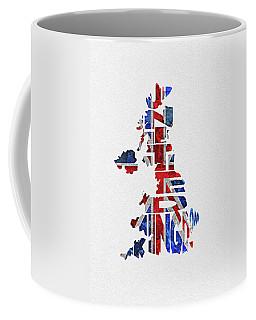 United Kingdom Typographic Kingdom Coffee Mug