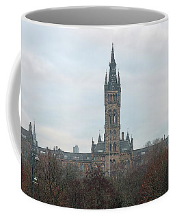 Coffee Mug featuring the photograph University Of Glasgow At Sunrise - Panorama by Maria Gaellman