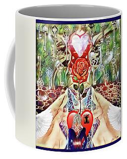 Coffee Mug featuring the digital art Unlock Love by Jennifer Page