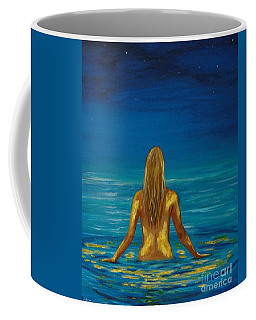 Coffee Mug featuring the painting Unmasking Series 1 by Leslie Allen