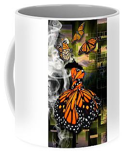 Coffee Mug featuring the mixed media Unrestricted by Marvin Blaine