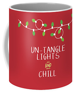 Untangle Lights And Chill- Art By Linda Woods Coffee Mug