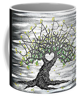 Coffee Mug featuring the drawing Untapped Love Tree by Aaron Bombalicki