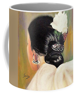 Untitled Dancer With White Flower Coffee Mug by Manuel Sanchez