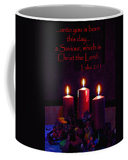 Unto You Is Born Coffee Mug by Larry Bishop