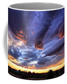Alien Cloud Formations Coffee Mug by Lynn Hopwood