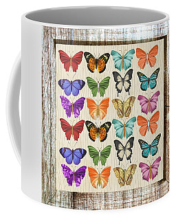 Colourful Butterflies Collage Coffee Mug