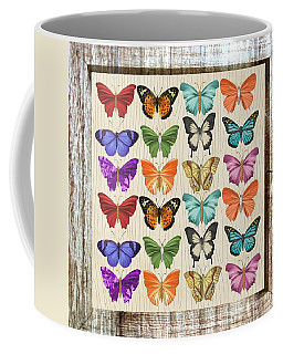Unusual Colourful Butterfly Collage Coffee Mug