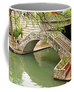 Coffee Mug featuring the photograph Up And Over - San Antonio River Walk by Art Block Collections