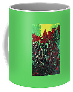 Coffee Mug featuring the painting Up Close And Personal by Karen Nicholson