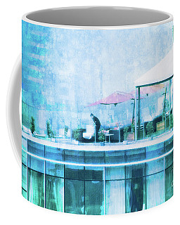 Coffee Mug featuring the digital art Up On The Roof - II by Mary Machare