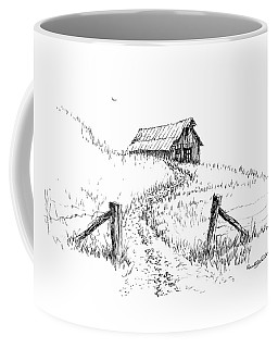 Up The Hill To The Old Barn Coffee Mug
