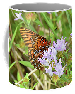 Coffee Mug featuring the photograph Up To Its Neck In Nectar by Sally Sperry