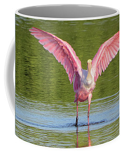 Coffee Mug featuring the photograph Up, Up And Away Sanibel Spoonbill by Melinda Saminski