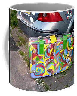 Coffee Mug featuring the painting Upcycled Old Suitcase 01 by Mudiama Kammoh