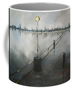 Upon The Boardwalk Coffee Mug by Raymond Doward