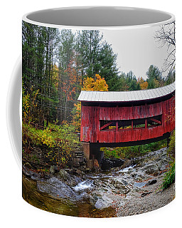 Upper Cox Brook Covered Bridge In Northfield Vermont Coffee Mug